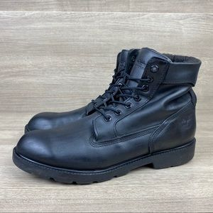 Timberland 19074 Black Nubuck Leather Work Boots